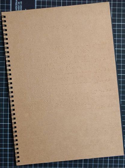 Cardápio em papel kraft
