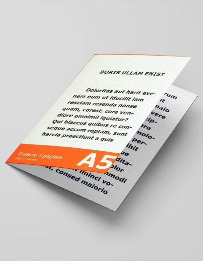 Folheto A5 4 páginas em braille e em letra ampliada